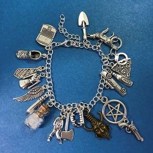 Jewelry - Supernatural Charm Bracelet  SPN Fandom